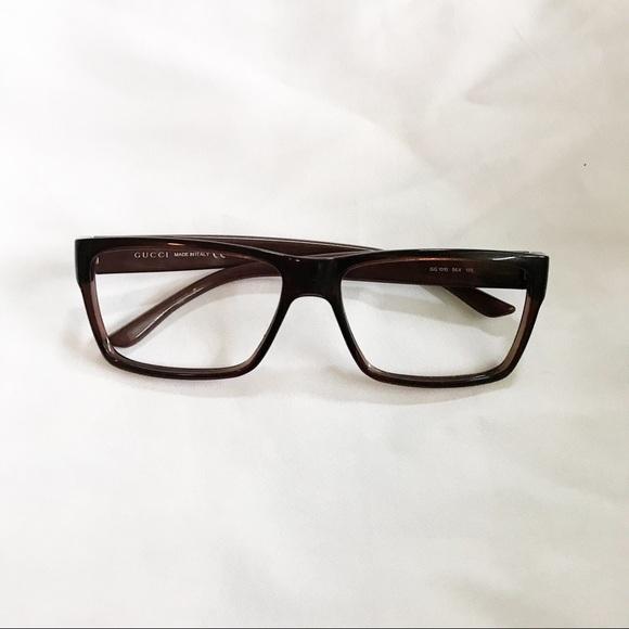 b41a18a5f4 Gucci Other - Rare Men s Gucci Dark Brown Brown Glasses Frame
